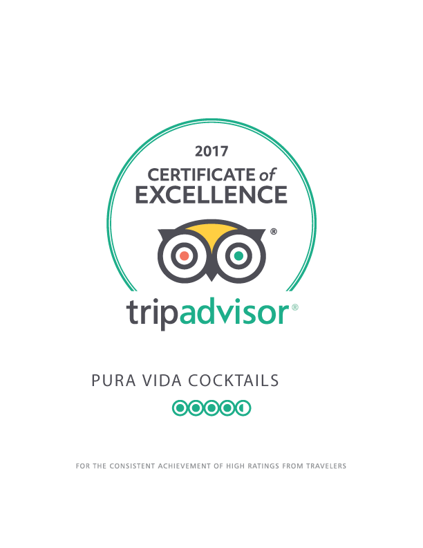 Certificate of Excellence TripAdvisor 2017